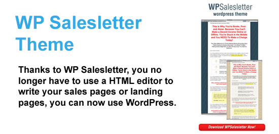 WP Salesletter Theme (WordPress Plugin)
