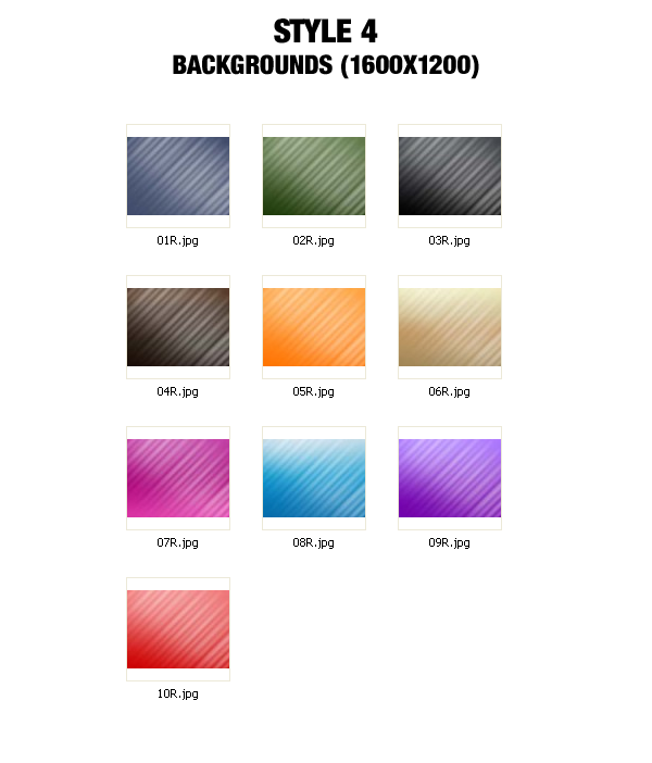 Background Graphics Pack - 1600x1200 - Style 4