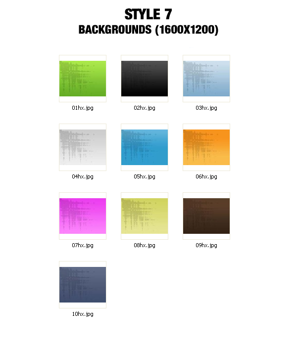 Background Graphics Pack - 1600x1200 - Style 7