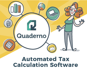 Quaderno Automated Tax Software - banner image 300x250